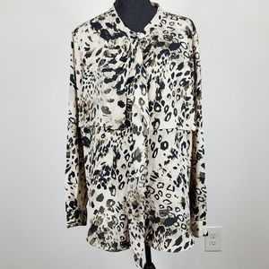 Vince Camuto Layered Print Blouse